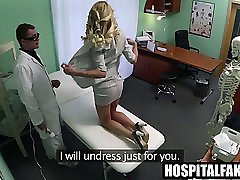 Foxy blonde babe getting toyed by her horny doctor