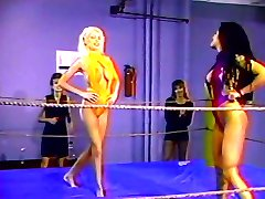 Lésbica quente quarteto luta de wrestling