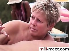 Swingers at the Nudist Beach - Cootchie from Cougar-MEET.COM