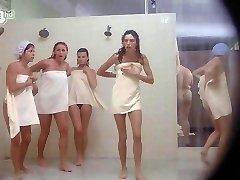 Porkys - Spycam gloryhole shower scene (solo dolls)