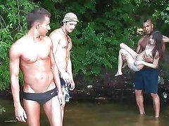 Sharing sweet Russian bikini babe