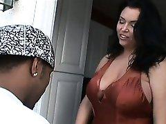 BBC fucking a milf with big boobs
