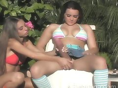 Trannies....I think. By the Pool