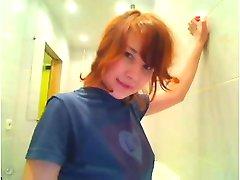 Redhead webcam flasher Stephenie from 1fuckdatecom