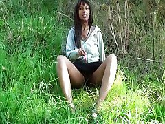 Public nudity and ebony amateur teens outdoor