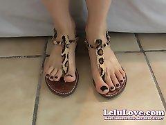 Lelu LoveBlack Toenails Gladiator Sandals