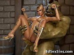 Creatures Tear Up 3D Princesses!