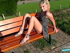 Public Creampie Extreme Risky! Platinum-blonde German Schnuggie91
