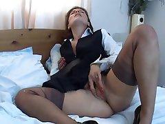 masturbace v nylonu