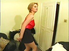 Britská žena v domácnosti v prdeli