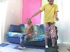 Sex S Blondýnou Malý Člověk