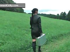 Kinky Carmen enjoys having fun in latex part6