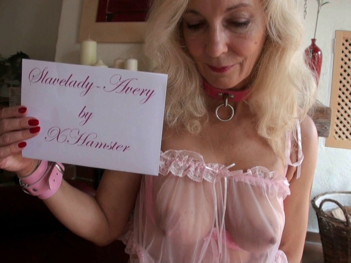 Blond Slavelady Avery is educated for sex slave bitch