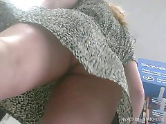 Blonde - Thong & Tight Ass - Over 4 Minutes Upskirt