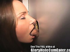 Wild Glory Hole Sperm Swallower