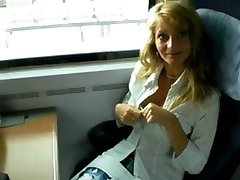 BJ on a train