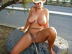 Pee big tits