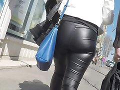 GREAT ASS SKIN TIGHT LEATHER PANTS