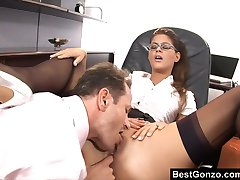 Daydreaming about getting her ass plowed by the boss