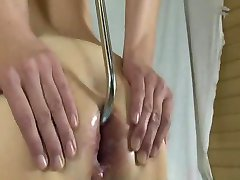 Bizarre anal fish hook and monster dildos insertions