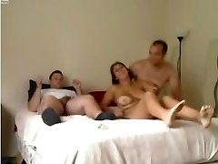Unexperienced - Ultra-cute Mature Homemade MMF Threesome