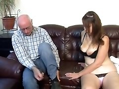 German grandfather makes young girl horny