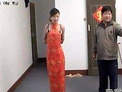 Chinese chick in bondage