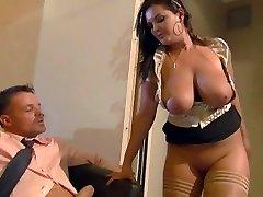 Buxom secretary Jasmin pleases her boss