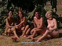 Naked Ladies Having Fun at a Nudist Resort (1960s Vintage)