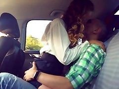 Sex in the van in the back seat. After graduation. Groans. Girl is jumping.