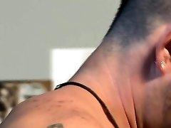 Masculine bear sprays spunk