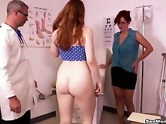 Redhead Mom and Daughter BLOWJOB Doctor - Andi James and Arietta