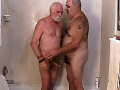 Two mature fellows getting off