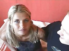 Hot blonde college teen has sex with a lucky ugly guy..RDL