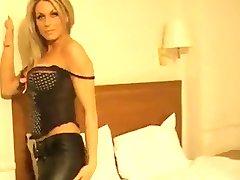 Beautiful Girl in Leather pants - bostero