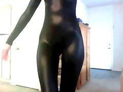 Girl showing us her black milk leggings