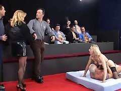 Claudia gets fucked by 13 cocks!