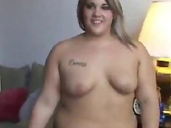 Big blonde with small tits