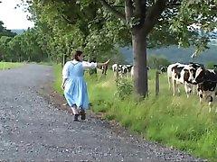 Traditional German milk maid