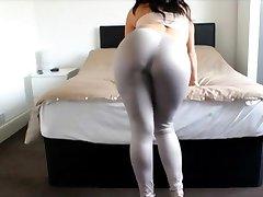 Big Ass Girl Spandex Ass Cumshot Big Booty Tease Leggings