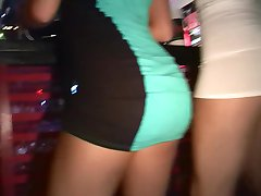 Coeds dancing and flashing out at the club - DreamGirls