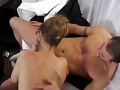 French housewife gets fucked on the couch in glass