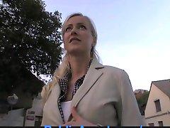 PublicAgent Blonde Ex-Girlfriend Rides my Cock in my Car