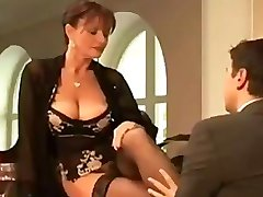 Diana Faucet milf mature fucking up in stocking and heels