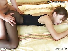 Secretary pantyhose fuck leotard sex