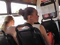 Upskirt in bus