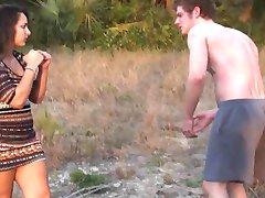 Girlfriend Kicks Boyfriends Ass For Cheating