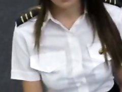 Hot latina stewardess sells her clothes and pussy banged