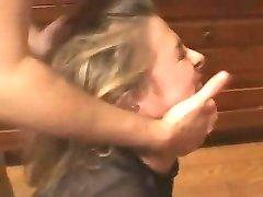 British slut Isabel Ice in an extreme rough FMM threesome
