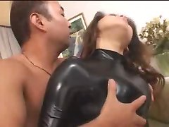 hot asian girl in rubber body